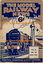 Marshall, Percival. 'The Model Railway News: Steam. Electric Clockwork', Published by Percival Marshall in paperback format, staple binding. Condition: acceptable, fair (vintage, still perfectly readable but past its best). Staples have failed and all the pages of the magazine are present but loose. Price:£7.99, not including post and packing, which is Amazon's standard charge (currently £2.75 for UK buyers, more for overseas customers)