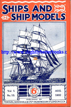 'Ships and Ship Models' published in August 1932 in Great Britain, Volume 1:12 covering September 1931 - August 1932 for lovers of ships and the sea. Published by Percival Marshall, 38pp long, paperback, staple-bound. Condition - good, clean, tidy and well looked-after copy. Price: £2.55, not including post and packing, which is Amazon's standard charge (currently £2.75 for UK buyers, more for overseas customers)