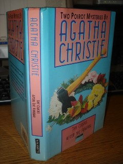 Christie, Agatha. 'The Clocks' and 'After the Funeral'.  Special hardcover book with dustjacket, published in 1990 for WHSmith, 346 pages. ISBN 0002237172. Condition: very good. Price £3.99 (not including p&p-specified when you buy!)